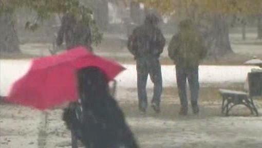 Sněžení v Polsku