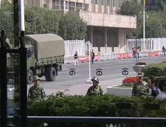 Čínská policie v Urumči