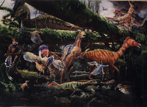 Opeření dinosauři v Číně