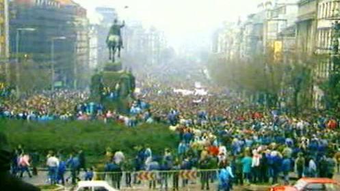 Václavské náměstí 1989