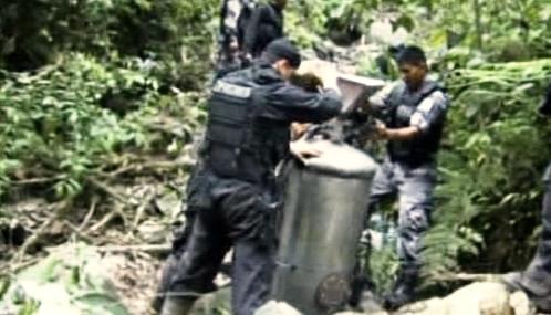 Ekvádorská policie likviduje tajnou laboratoř na výrobu drog