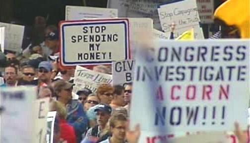 Demonstrace proti Obamově zdravotnické reformě