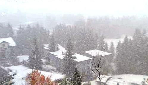 První sněhová nadílka ve Švýcarsku