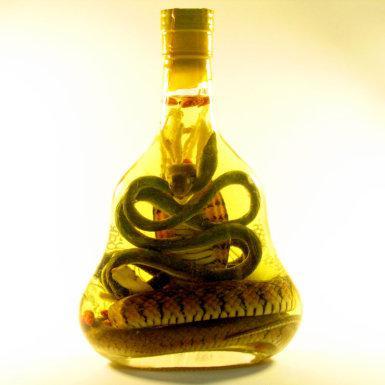Asijský alkohol s hadem