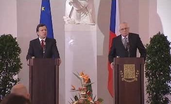 Barroso a Klaus