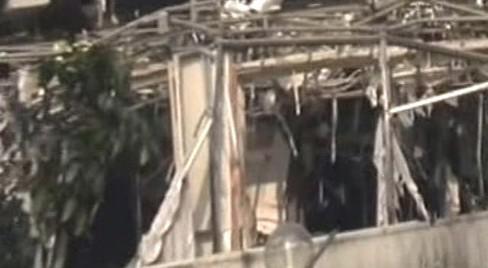 Následky exploze v Jakartě
