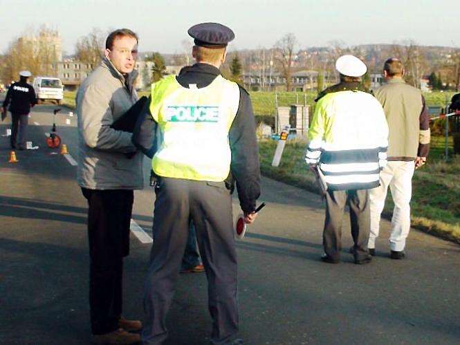 Policisté u nehody