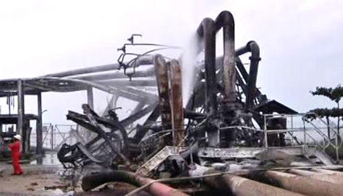 Následky útoku na ropný terminál v Nigérii