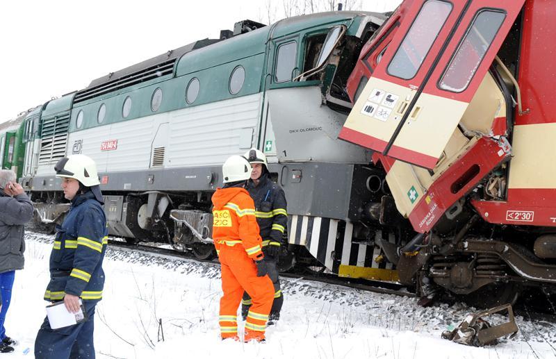 Hasiči u srážky vlaků