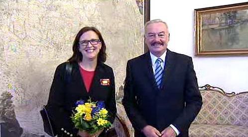 Cecilia Malmströmová a Přemysl Sobotka