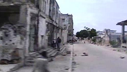 Následky bojů v Mogadišu