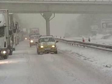 Zima na dálnici