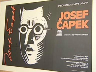 Plakát k výstavě děl Josefa Čapka