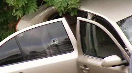 Nabourané policejní auto