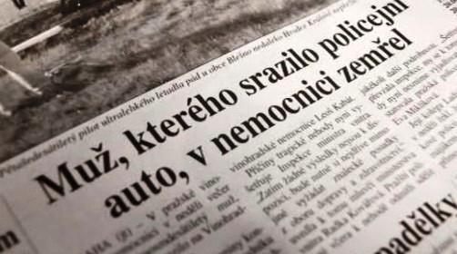 Novinový článek o policejní nehodě