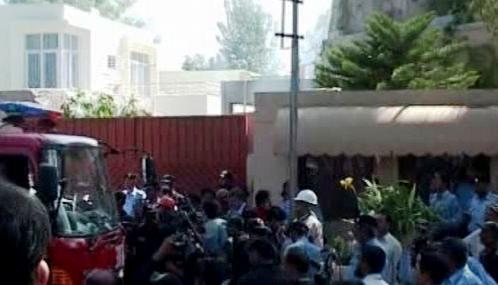 Následky útoku na budovu OSN v Islámábádu