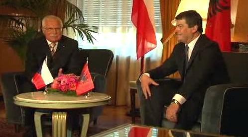 Václav Klaus a Bamir Topi
