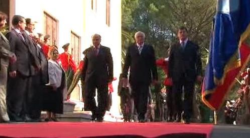 Václav Klaus na návštěvě Albánie