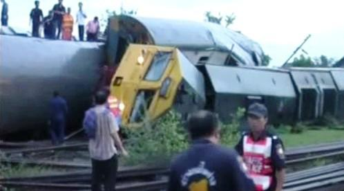 V Thajsku vykolejil vlak