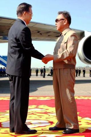 Wen Ťia-pao a Kim Čong-il