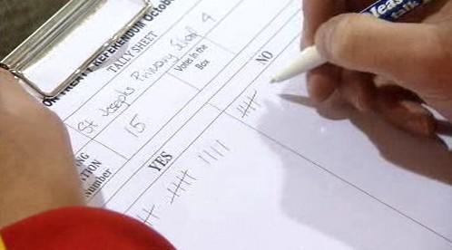 Sčítání hlasů v Irsku