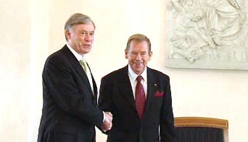Václav Havel a Horst Köhler