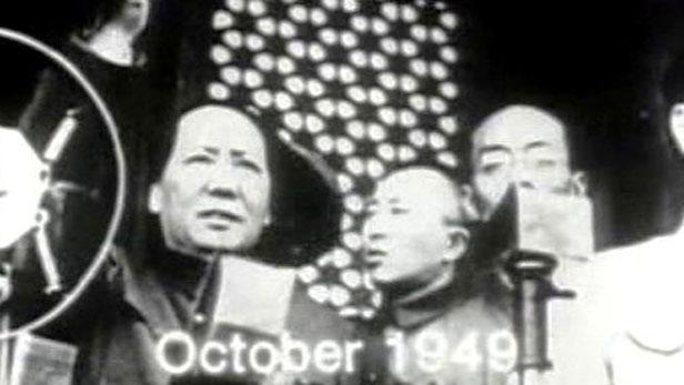 Mao Ce-tung na náměstí Tchien-an-men