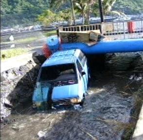 Škody po tsunami na Samoi