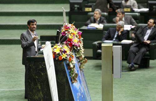 Mahmúd Ahmadínežád v parlamentu