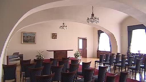 Obřadní síň v Třeboni