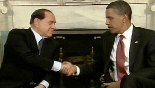 Silvio Berlusconi a Barack Obama