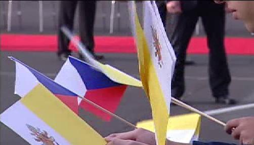 Vlajky Česka a Vatikánu
