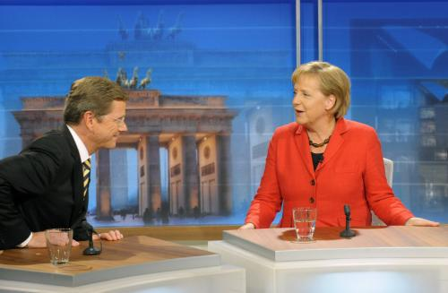 Guido Westerwelle a Angela Merkelová