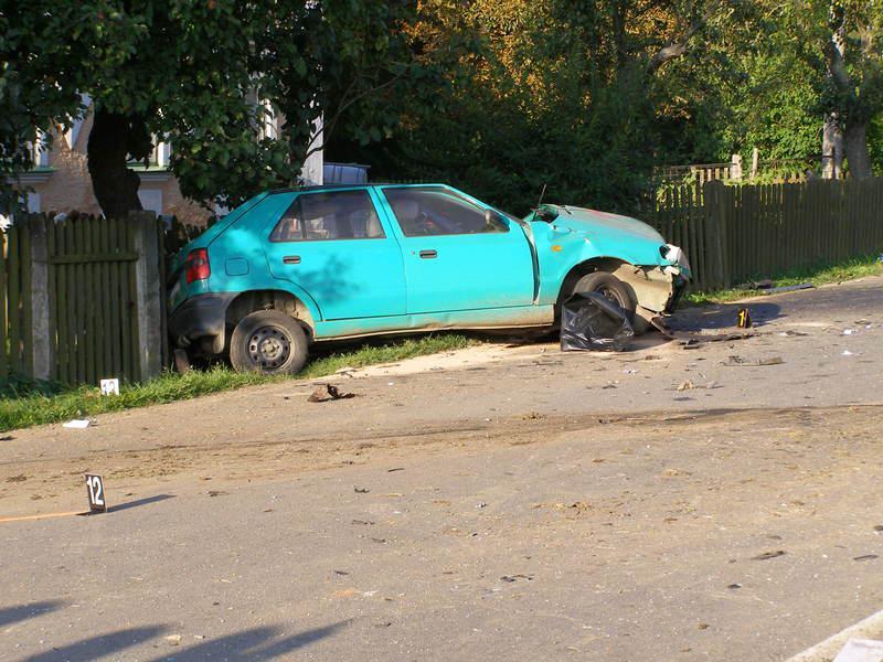 Osobní auto po nehodě