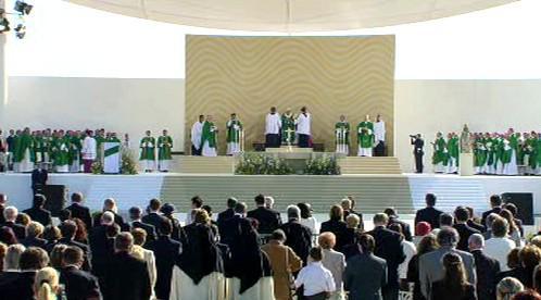 Mše papeže Benedikta XVI. v Brně