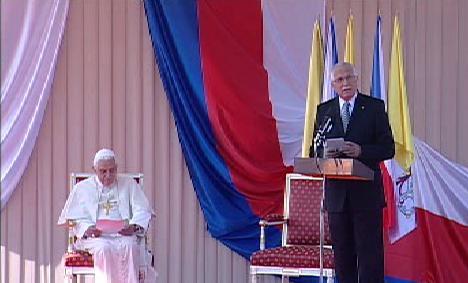 Benedikt XVI. a Václav Klaus