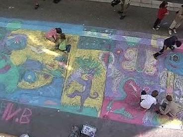 Obraz na chodníku