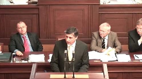 Jan Fischer ve sněmovně