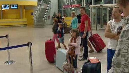 Čekající turisté