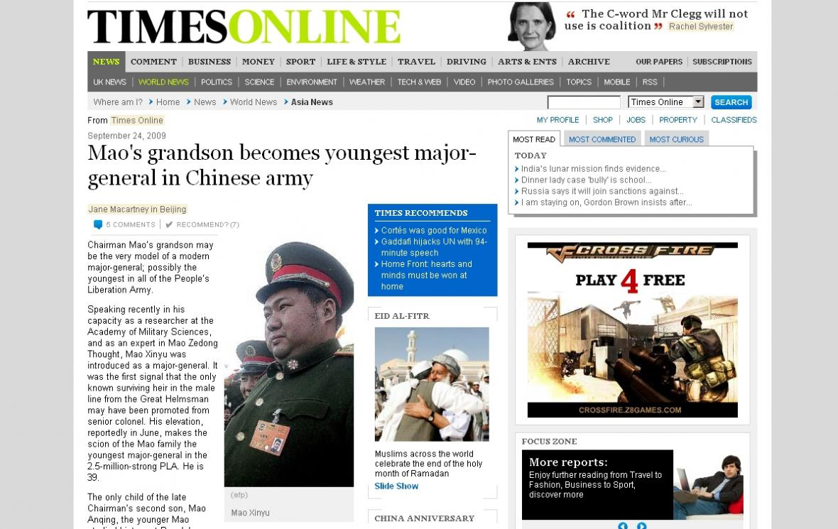 Times o Maově vnukovi