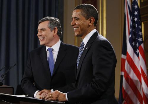 Gordon Brown a Barack Obama