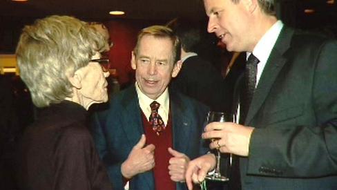 Barbara Podoskiová a Václav Havel