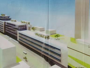 Model administrativní budovy