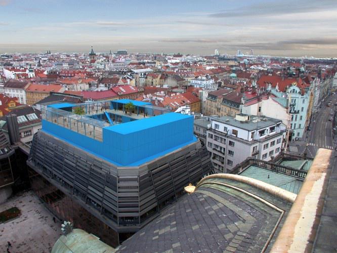 Mateřská škola na střeše Provozní budovy Národního divadla