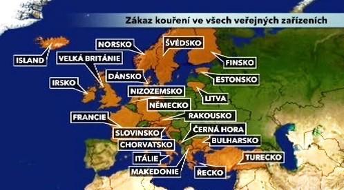 Zákaz kouření v Evropě