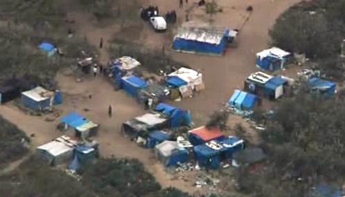 Tábor nelegálních přistěhovalců u Calais