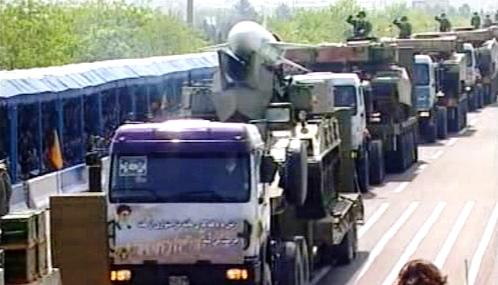 Vojenská přehlídka v Íránu