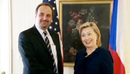 Jan Kohout a Hillary Clintonová