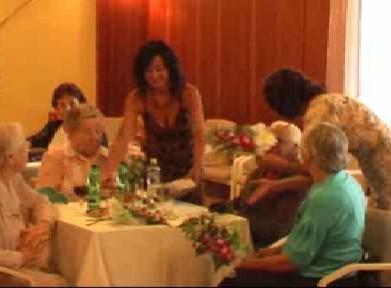 Javorničtí senioři při oslavě