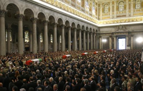 Pohřeb italských vojáků